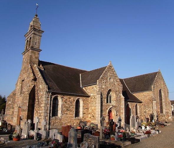 Tréglamus, le bourg. L′église paroissiale Sainte-Blaise (XV-XVIème siècles, XIXème et XXème siècles) ( 2008)